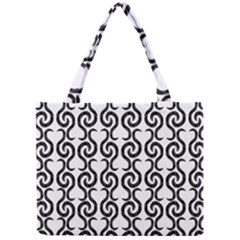 White and black elegant pattern Mini Tote Bag