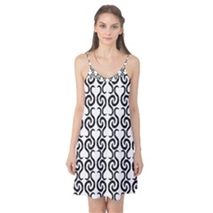 White and black elegant pattern Camis Nightgown