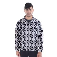 White and black elegant pattern Wind Breaker (Men)