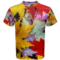 Coloorfull Leave Men s Cotton Tee