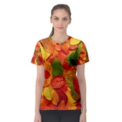 Colorful Fall Leaves Women s Sport Mesh Tee