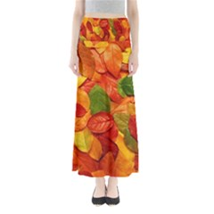 Colorful Fall Leaves Maxi Skirts