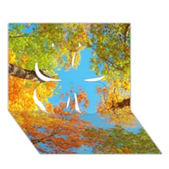 Colorful Leaves Sky Clover 3d Greeting Card (7x5)
