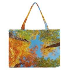 Colorful Leaves Sky Medium Zipper Tote Bag