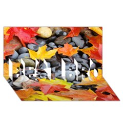 Colorful Leaves Stones Best Bro 3d Greeting Card (8x4)