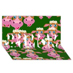 Cow Pattern #1 Mom 3d Greeting Cards (8x4)