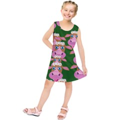 Cow Pattern Kids  Tunic Dress