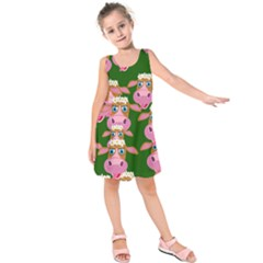 Cow Pattern Kids  Sleeveless Dress