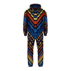 Cute Hand Drawn Ethnic Pattern Hooded Jumpsuit (kids)