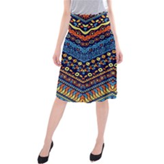 Cute Hand Drawn Ethnic Pattern Midi Beach Skirt