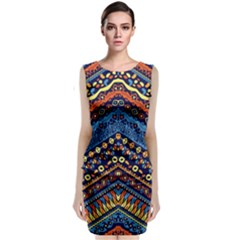 Cute Hand Drawn Ethnic Pattern Classic Sleeveless Midi Dress