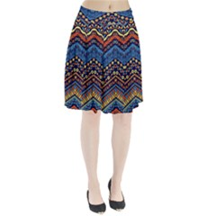 Cute Hand Drawn Ethnic Pattern Pleated Skirt