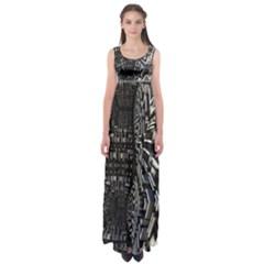 Fractal Art Pattern Empire Waist Maxi Dress