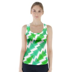 Geometric Art Pattern Racer Back Sports Top