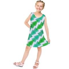 Geometric Art Pattern Kids  Tunic Dress