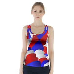 Happy Memorial Day Racer Back Sports Top