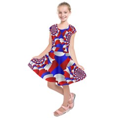 Happy Memorial Day Kids  Short Sleeve Dress