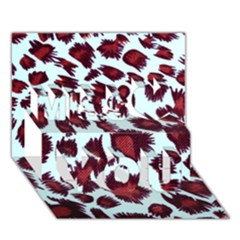 Jaguar Textile Background Miss You 3D Greeting Card (7x5)