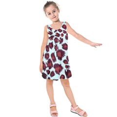 Jaguar Textile Background Kids  Sleeveless Dress