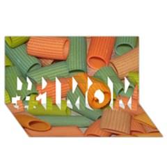 Macaroni Rigatoni Rotini Lasagna Corkscrew #1 Mom 3d Greeting Cards (8x4)