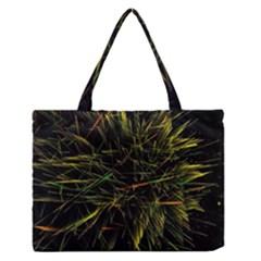 Magic Art Particle Texture Medium Zipper Tote Bag