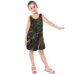 Magic Art Particle Texture Kids  Sleeveless Dress