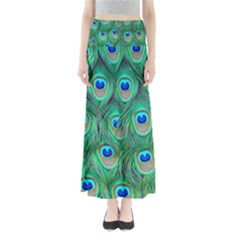 Peacock Feather Maxi Skirts