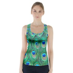Peacock Feather Racer Back Sports Top