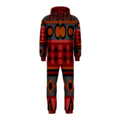 Red Aztec Hooded Jumpsuit (kids)