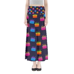 Seamless Tile Repeat Pattern Maxi Skirts