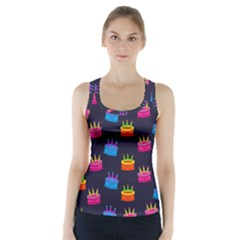 Seamless Tile Repeat Pattern Racer Back Sports Top