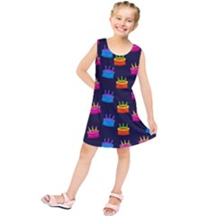 Seamless Tile Repeat Pattern Kids  Tunic Dress