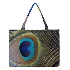Single Peacock Medium Tote Bag
