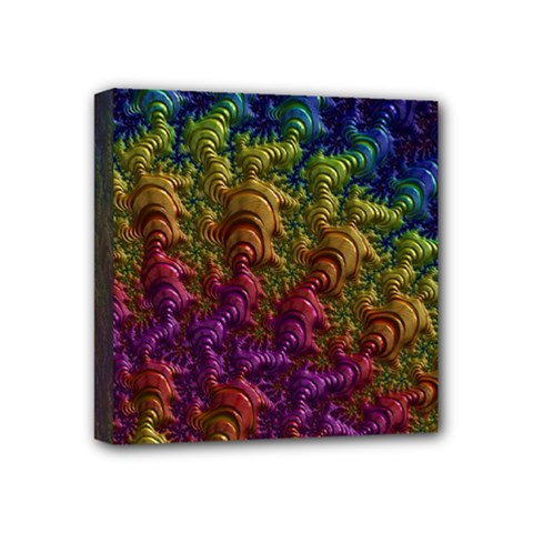 Fractal Art Design Colorful Mini Canvas 4  x 4
