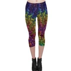 Fractal Art Design Colorful Capri Leggings