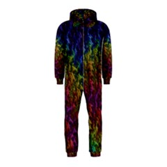 Fractal Art Design Colorful Hooded Jumpsuit (Kids)
