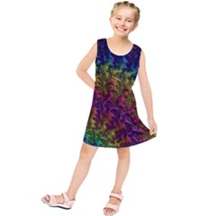 Fractal Art Design Colorful Kids  Tunic Dress