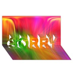 Texture Background Sorry 3d Greeting Card (8x4)