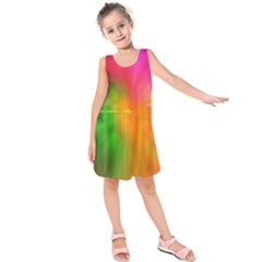 Texture Background Kids  Sleeveless Dress