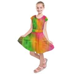 Texture Background Kids  Short Sleeve Dress