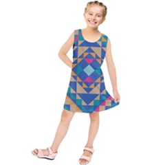 Tiling Pattern Kids  Tunic Dress