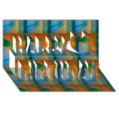 Wall Of Colour Duplication Happy Birthday 3d Greeting Card (8x4)