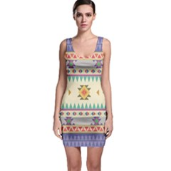 Your First Aztec Pattern Sleeveless Bodycon Dress