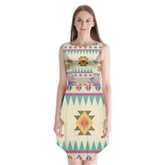 Your First Aztec Pattern Sleeveless Chiffon Dress