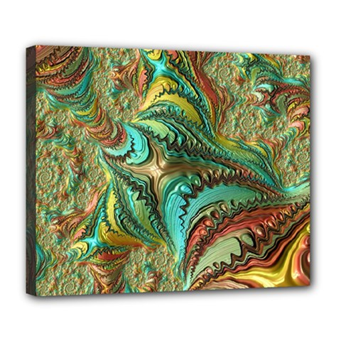 Fractal Artwork Pattern Digital Deluxe Canvas 24  x 20