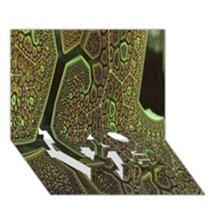 Fractal Complexity 3d Dimensional LOVE Bottom 3D Greeting Card (7x5)