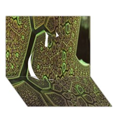 Fractal Complexity 3d Dimensional Apple 3D Greeting Card (7x5)