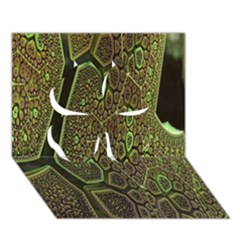 Fractal Complexity 3d Dimensional Clover 3D Greeting Card (7x5)