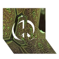 Fractal Complexity 3d Dimensional Peace Sign 3D Greeting Card (7x5)