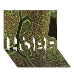 Fractal Complexity 3d Dimensional HOPE 3D Greeting Card (7x5)